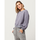 COCO & JAIMESON Nubby Knit Womens Oversized Sweatshirt