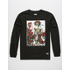 GRIZZLY x DEAD Skull And Roses Mens T-Shirt