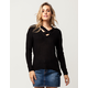 SAY WHAT? Cross Front Womens Sweater