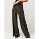 SKY AND SPARROW Solid Womens Wrap Wide Leg Pants