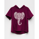 SKY AND SPARROW Elephant Girls Hoodie