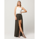 IVY & MAIN Solid Walk Thru Maxi Skirt