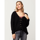 EN CREME Grommet Lace Up Womens Sweater