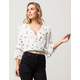 MILEY & MOLLY Butterfly Bell Sleeve Womens Top