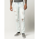 RSQ Seattle Mens Skinny Taper Ripped Jeans