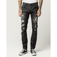 RSQ Seattle Mens Skinny Tapered Ripped Jeans
