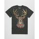 RIOT SOCIETY Ornate Buck Mens T-Shirt