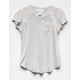 IVY & MAIN Crochet Inset Girls Pocket Tee