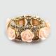 FULL TILT Epoxy Rose Filigree Stretch Bracelet