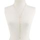 Rhinestone Cross Slider Necklace