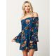 BLU PEPPER Floral Off The Shoulder Dress
