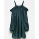 MIA CHICA Stripe Girls Cold Shoulder Dress