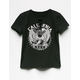 SKY AND SPARROW Moto Lace Up Girls Tee