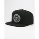 BRIXTON Oath III Black Mens Snapback Hat