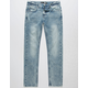 RSQ Acid Wash Tokyo Super Skinny Stretch Boys Ripped Jeans