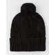 Basic Cable Knit Pom Beanie