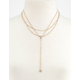 Crystal & Triangle Lariat Necklace