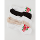 5 Pack Roses Womens No Show Socks