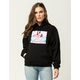 PINK DOLPHIN Wave Club Womens Hoodie