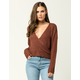 IVY & MAIN Surplice Womens Sweater