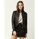 JOU JOU Womens Faux Leather Jacket