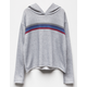 SKY AND SPARROW Striped Girls Hoodie