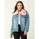 CI SONO Fur Collar Womens Denim Jacket