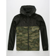 INDEPENDENT TRADING COMPANY Lightweight Camo & Black Mens Windbreaker Jacket