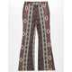 SKY AND SPARROW Paisley Floral Brushed Girls Flare Pants