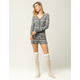 COSMIC LOVE Deer Fair Isle Womens Short Onesie
