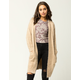 WOVEN HEART Furry Womens Oversized Cardigan