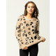 WOVEN HEART Furry Animal Print Womens Sweater