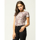 IVY & MAIN Velvet Floral Womens Baby Tee