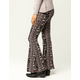 SKY AND SPARROW Linear Floral Womens Flare Pants