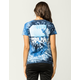 PINK DOLPHIN Wave Block Womens Tee