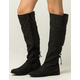 QUPID Lace Back Womens Riding Boots