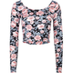 FULL TILT Floral Womens Fitted Crop Top