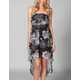 FULL TILT Floral Hi Low Tube Dress