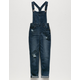 CELEBRITY PINK Roll Cuff Girls Ripped Overalls