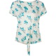 FULL TILT Floral Tie Front Womens Top