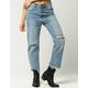 AMUSE SOCIETY Jennings Womens Ripped Boyfriend Jeans