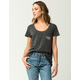 AMUSE SOCIETY It's The Little Things Womens Pocket Tee