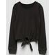 IVY & MAIN Tie Front Girls Sweatshirt