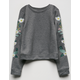 IVY & MAIN Floral Embrodiery Girls Sweatshirt