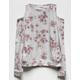 IVY & MAIN Floral Girls Cold Shoulder Top