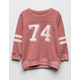 SKY AND SPARROW 74 Girls Varsity Tee