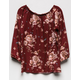 SKY AND SPARROW Floral Off The Shoulder Girls Top