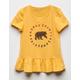 POOLHOUSE Cali Bear Girls Babydoll Tee
