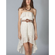 FULL TILT Lace Ruffle Hi Low Tube Dress