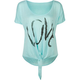 FULL TILT Love Womens Tie Front Top